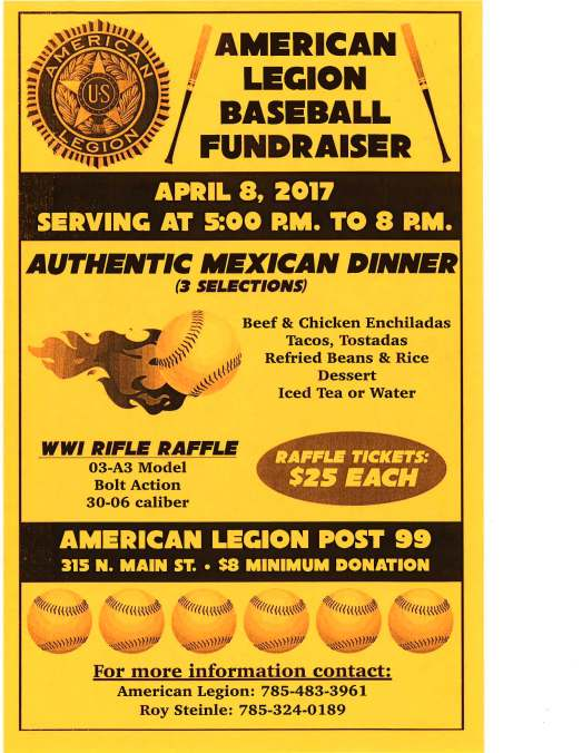2017 RS Legion Baseball Fundraiser Flyer